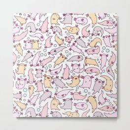 Adorable Axolotls Metal Print