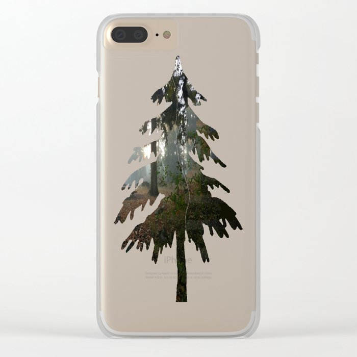 Divided In Fall (There Are No Picnics Here) Clear iPhone Case