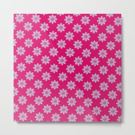 Indian Floral Seamless pattern Metal Print