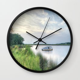 Outer Banks, Colington Harbour Sunset, OBX, NC Wall Clock