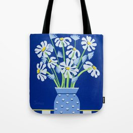 Daises In Hobnail Glass Tote Bag