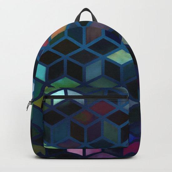 Pastel Boxes Blue Backpack