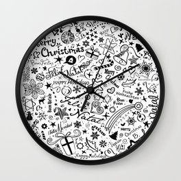 Merry Christmas Multiple languages Wall Clock