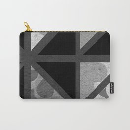 Cotton Textured Geometrical Abstract Design Carry-All Pouch