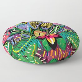 Tropical Flower Arrangement Floor Pillow