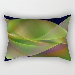 Rainbow reflection in a green wave Rectangular Pillow