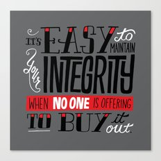 Integrity Canvas Print