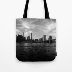 New York Skyline - Black & White Tote Bag
