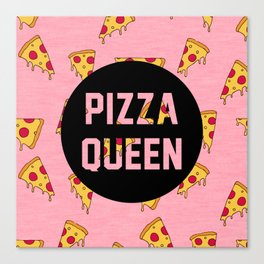 Pizza Queen - Pink Canvas Print