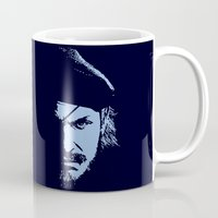 metal gear solid Mugs featuring Big Boss (Snake / metal gear solid) by TxzDesign