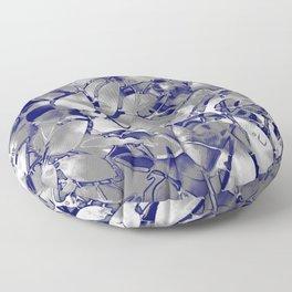 Grunge Art Silver Floral Abstract G169 Floor Pillow