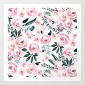 Floral Rose Watercolor Flower Pattern by naturemagick