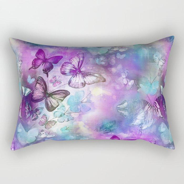 Butterflies Dreaming Rectangular Pillow