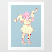 play Art Prints featuring Play by Vivian Le