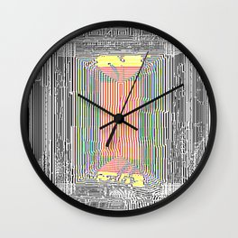 Glitch in the Style of Art Nouveau  Wall Clock