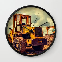 Bulldozer Wall Clock