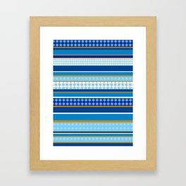 hanukkah wrap Framed Art Print