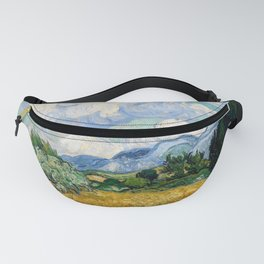 Vincent Van Gogh Wheat Field With Cypresses Fanny Pack