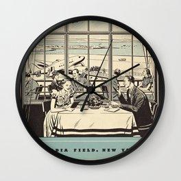 New York La Guardia Airport Restaurant Menu, June 1940 Wall Clock