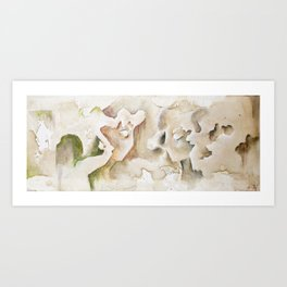 """Clio and Urania""- Muses of History and Architecture  Art Print"