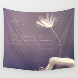 It all starts with A wish  Wall Tapestry