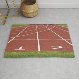 Athletics running racecourse Rug