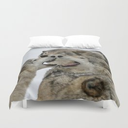 Shouting Match Duvet Cover