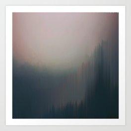 Paysage dans le Brouillard Art Print
