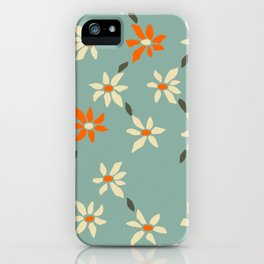 Daily pattern: Retro Flower No.11 iPhone Case