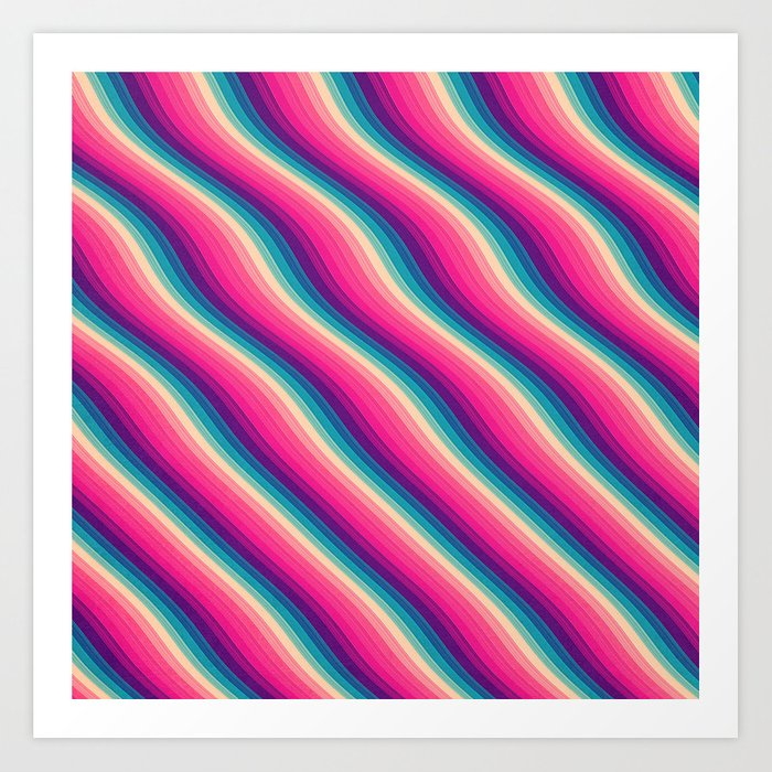 Abstract Color Burn Pattern - Geometric Lines / Optical ...