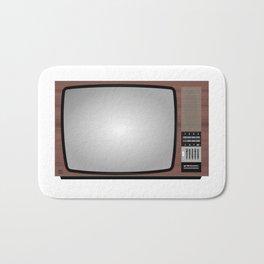 Retro Vintage Old Television Grandcolor 777 Jugoslavija 1970s 1980s Neven Zubak Bath Mat