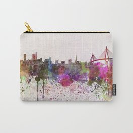 Hamburg skyline in watercolor background Carry-All Pouch