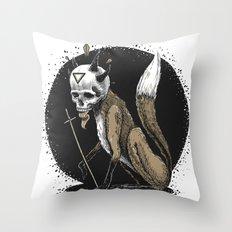 Kitsune Demon Fox Throw Pillow