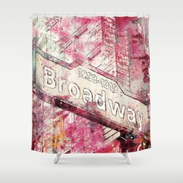 Broadway sign New York City Shower Curtain