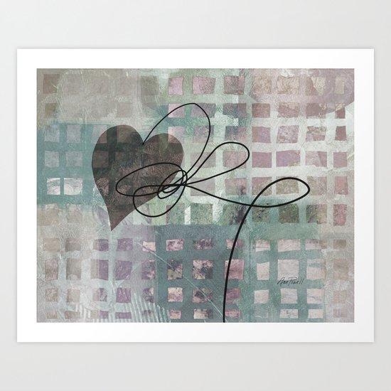 Heart String abstract art by Ann Powell Art Print
