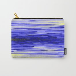 Yellow and Blue Fractal Abstract Carry-All Pouch