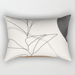 Abstract Art /Minimal Plant Rectangular Pillow