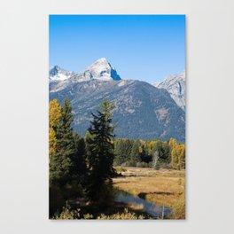 Teton Mountain with Snow Canvas Print