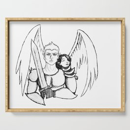 Angel and the Knight Serving Tray