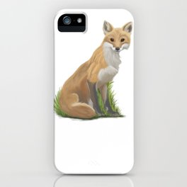 Playful Red Fox iPhone Case