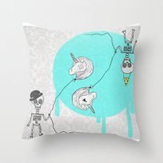 Skeletonia Throw Pillow