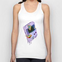 gameboy Tank Tops featuring Gameboy Melt by KING BOZU