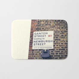 London street sign Bath Mat