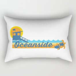 Oceanside California. Rectangular Pillow