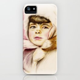 Pastel Drawing of Janie iPhone Case