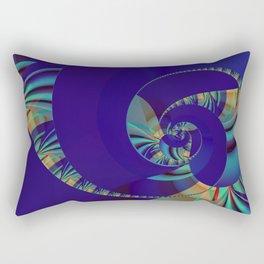 Blue Loop Rectangular Pillow
