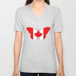 Canada Butterfly Unisex V-Neck