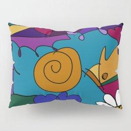 """Before the Celebration"" bold, colorful doodle art Pillow Sham"