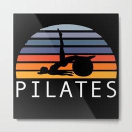 Retro Pilates Metal Print