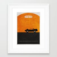 mad max Framed Art Prints featuring Mad Max by Ayse Deniz